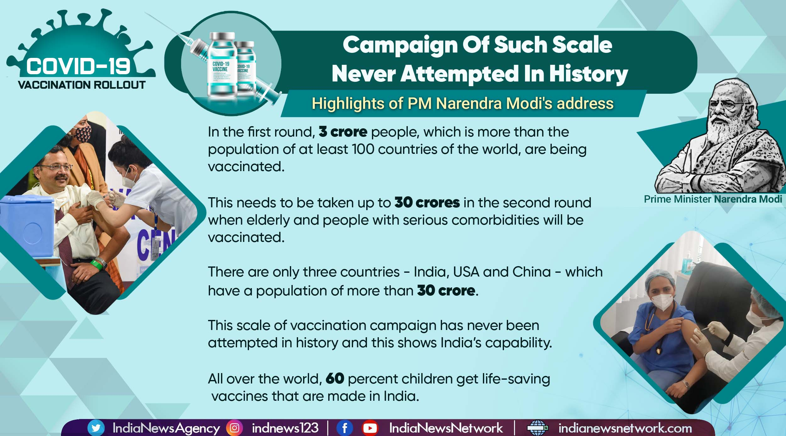 Covid-19 vaccination: What PM Modi said as India launched world's largest campaign