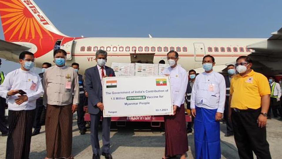 India dispatches 1.5 million doses of Covishield vaccine to Myanmar