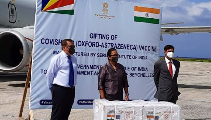 India sends 50,000 doses of vaccines to Seychelles
