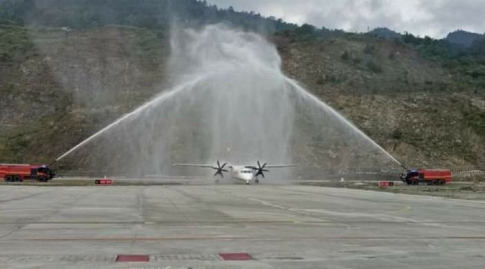 With flight from Delhi, operations resume at Sikkim's Pakyong airport