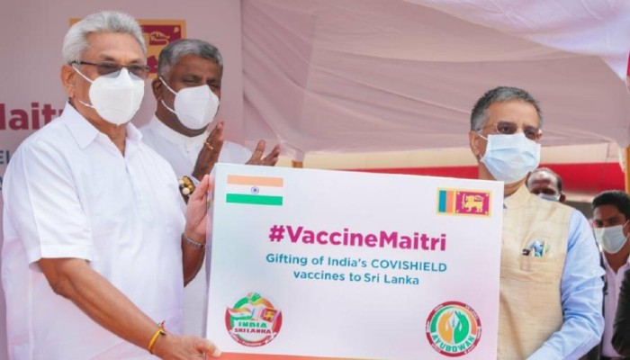 Sri Lanka conveys its gratitude to India for Covid-19 vaccine gift