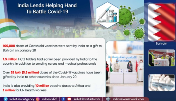 With gift of Covid-19 vaccines, India further strengthens ties with Bahrain