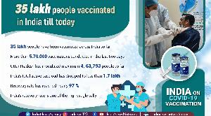 35 lakh people vaccinated in India till today