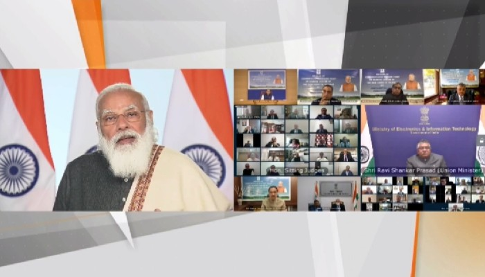 'Judiciary has always interpreted Constitution positively to strengthen it': PM Modi