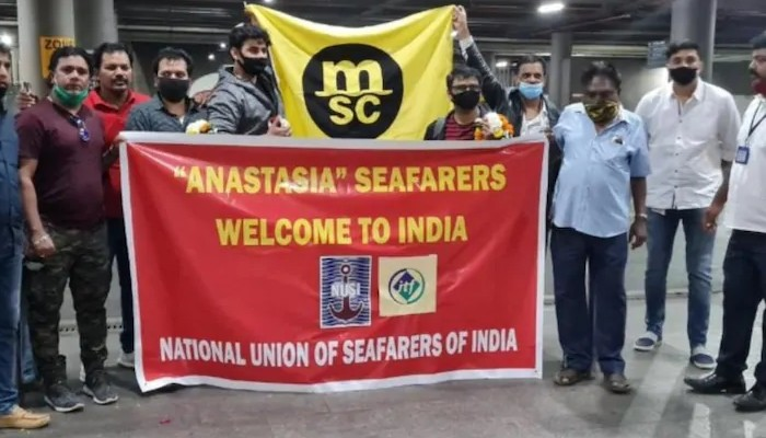 16 Indian sailors stranded in Chinese waters for months arrive in Mumbai