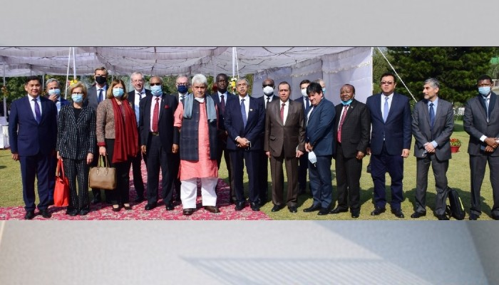 Investing more than ever before in infrastructure, industries, education & healthcare: J&K LG to visiting envoys
