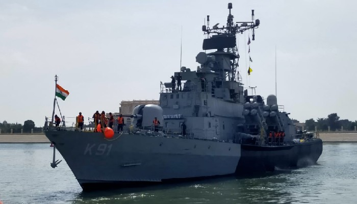 Indian Navy's 'Pralaya' arrives in Abu Dhabi to participate in NAVDEX-21 and IDEX-21
