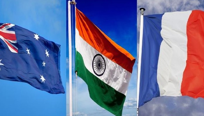 India, France and Australia discuss cooperation in Indo-Pacific region
