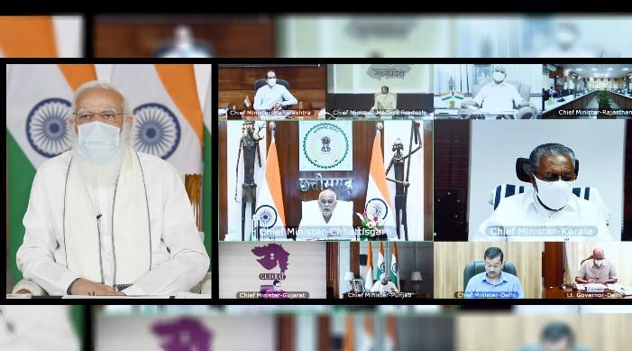 केन्द्र र राज्यहरूले कोरोनाको दोस्रो लहर सँग लड्नका लागि मिलेर काम गर्नुपर्छ: प्रधानमन्त्री मोदीले कोविड समीक्षा बैठकमा भन्नु भय