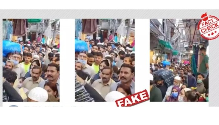 Viral video of people violating Covid-19 norms while shopping for Eid, is not from Delhi, but Pakistan!