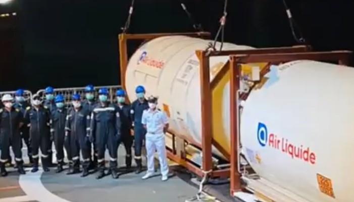 फ्रान्स र कतार द्वारा संचालित ऑक्सीजन सॉलिडेरिटी ब्रिजले भारतमा ८० टन अक्सिजन आपूर्ति गरेको छ।