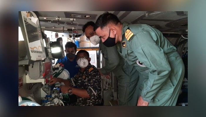 Indian Navy converts its helicopter into air ambulance to evacuate critical patients