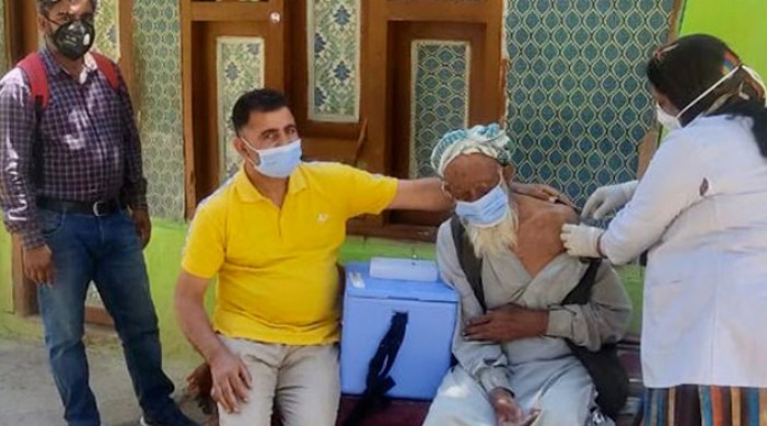 Centenarians lead the way in J&K Covid-19 vaccination drive
