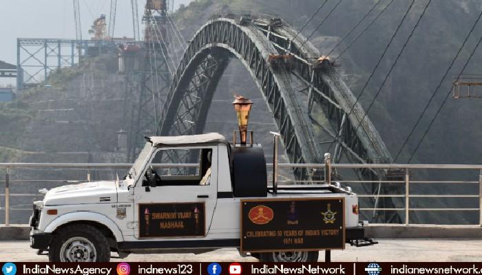 Swarnim Vijay Varsh: Victory Flame reaches World's Highest Bridge in J&K