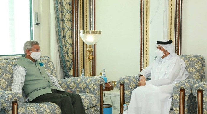 EAM Jaishankar meets his Qatari counterpart Al Thani in Doha; discusses bilateral cooperation