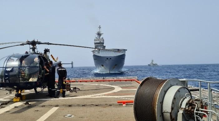 यूरोपीय संघ र भारतद्वारा अदनको खाडीमा संयुक्त नौसेना अभ्यास