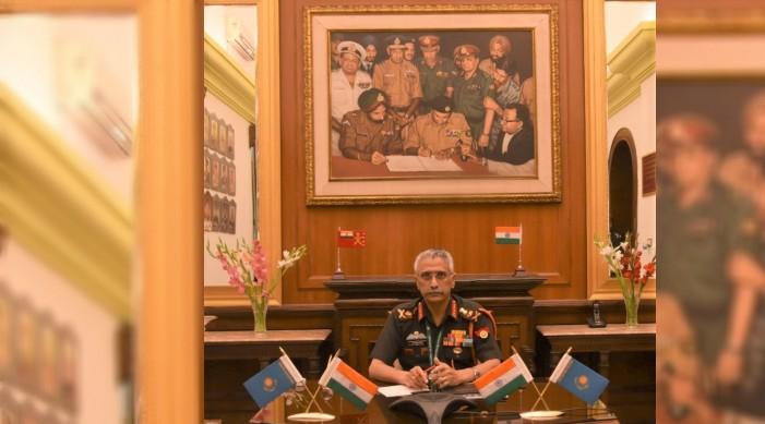 भारत र कजाकिस्तानका सेना प्रमुखहरूद्वारा द्विपक्षीय रक्षा सहयोगमा छलफल