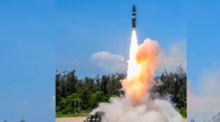 भारतद्वारा परमाणु सक्षम मिसाइलको नँया संस्करण अग्नि पी को सफल परीक्षण