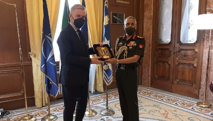 Indian Army Chief Gen Naravane interacts with Italian counterpart, calls on Defence Minister