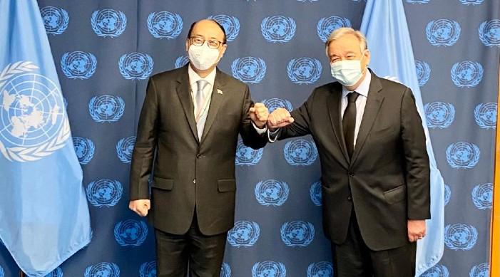 एफएस श्रिंगलाको संयुक्त राष्ट्रसंघका प्रमुखसँग भेट, सुरक्षा परिषद सुधारबारे छलफल