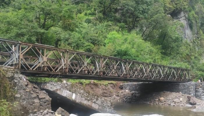 कुनै बेला दलाई लामा हिंड्नु भएको ऐतिहासिक तावाङ्ग सडकमा बीआरओद्वारा पुलको निर्माण सुरु