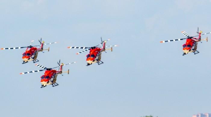 रुसमा आयोजना हुनलागेको अन्तर्राष्ट्रिय हवाई प्रदर्शनीमा आईएएफको सारंग हेलिकप्टर टोली सहभागी हुने