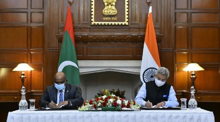 भारत र माल्दिभ्सद्वारा समुदाय विकास परियोजनाको लागि ४५ करोडको सम्झौता मा हस्ताक्षर