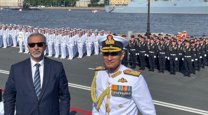India's Navy Chief Karambir Singh attends Russian Navy Day celebrations