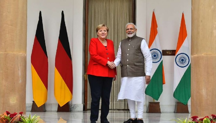 प्रधानमन्त्री मोदी र जर्मनी मुख्यमन्त्री मर्केल बीच अफगानिस्तानको सुरक्षा अवस्थाबारे छलफल