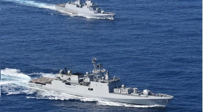 आईएनएस तबर र अल्जेरियाली नौसेना जहाज एजेड्जर संयुक्त सामुद्रिक अभ्यासमा सहभागी