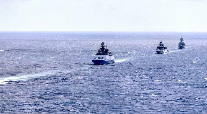 आईएनएस शिवालिक र कदमत अष्ट्रेलिया का नौसेना सँग एसुइनडेक्स को चौथो संस्करण मा भाग लिदै