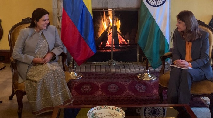 MoS Lekhi meets Colombian Foreign Minister, discusses bilateral and multilateral issues