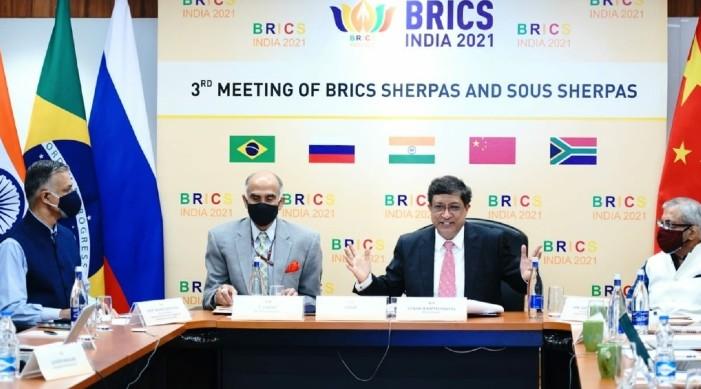 ब्रिक्स शेरपाओं ने पीएम मोदी की अध्यक्षता में 13वें ब्रिक्स शिखर सम्मेलन की तैयारियों कि समीक्षा की
