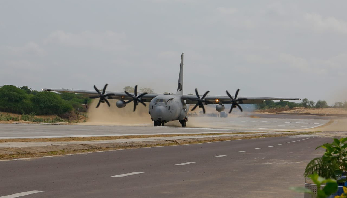 In a first, IAF aircraft land on National Highway in Rajasthan