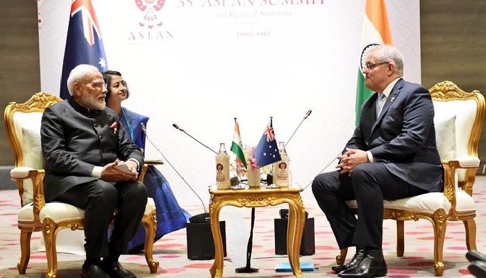 प्रधानमन्त्री मोदी र अस्ट्रेलियाका प्रधानमन्त्री मोरिसन बीच कुराकानी, द्विपक्षीय सम्बन्धको समीक्षा