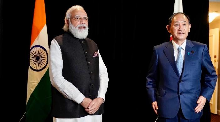 प्रधानमन्त्री मोदी र जापानी प्रधानमन्त्री सुगा बीच भेट, द्विपक्षीय बहुआयामिक सम्बन्ध को समीक्षा, हिन्द प्रशान्त क्षेत्र मा विचार