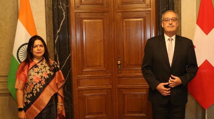 राज्यमन्त्री लेखी र स्विट्जरल्याण्ड का राष्ट्रपति बीच भेट, द्विपक्षीय हितका बारे छलफल