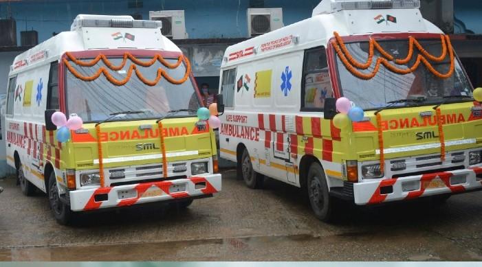 भारतद्वारा बांग्लादेशको सिल्हटमा रहेका अस्पतालहरुलाई जीवन समर्थन एम्बुलेन्स हस्तान्तरण