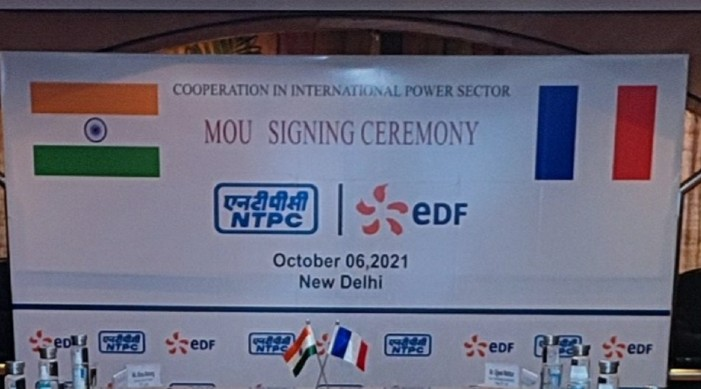 France's EDF and India's NTPC sign MoU to explore power project opportunities globally