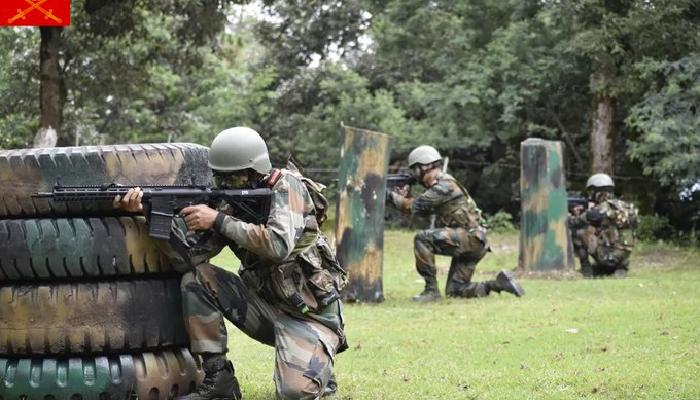 भारतीय र बेलायती सेना बीच संयुक्त सैन्य अभ्यास 'अजेय योद्धा' को शुरुवात