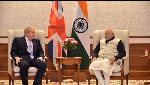PM Modi speaks to his UK counterpart Boris Johnson, reviews progress in bilateral relations