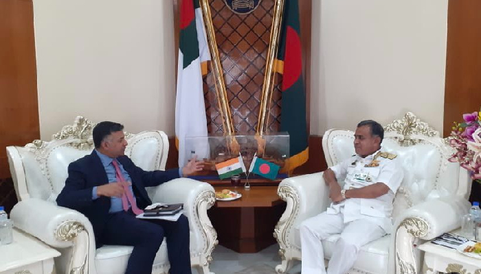 Indian envoy calls on Bangladesh's Chief of Naval Staff, discusses issues of maritime cooperation