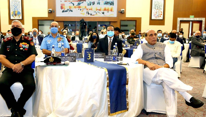 Over 200 delegates participate in Rajnath Singh chaired Ambassadors' Round Table for DefExpo 2022