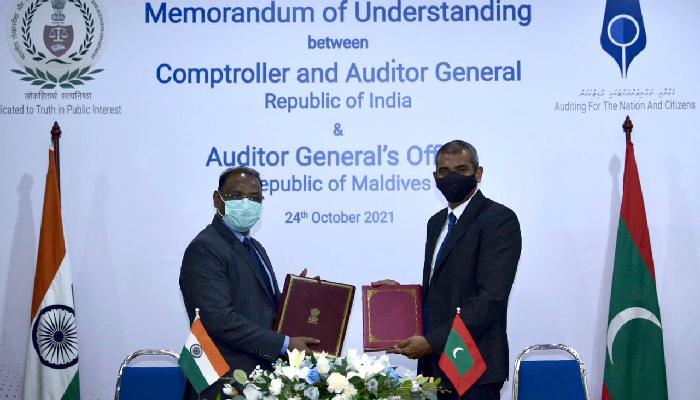 India, Maldives ink MoU to collaborate in public audit