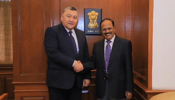 Kyrgyz Republic Security Council Secretary visits India for Strategic Dialogue, meets NSA Doval